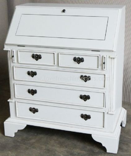 Georgian Bureau in Antique White
